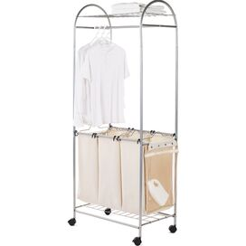 Rolling Laundry Center & Rack