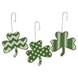 Weathered Shamrock Ornament (Set of 3)