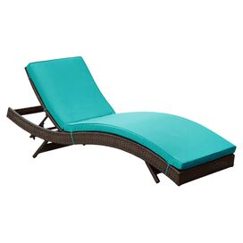Evelyn Patio Chaise in Turquoise