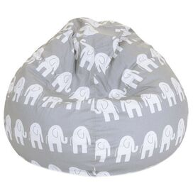 Ellie Kids Beanbag in Gray
