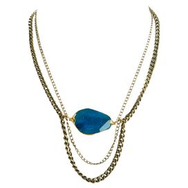 Turquoise Fire Agate Esme Necklace