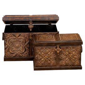 2-Piece Rustico Storage Box Set