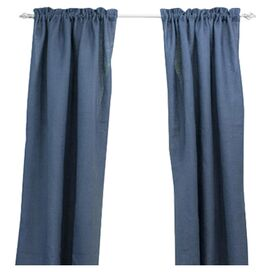 Penny Curtain Panel in Navy