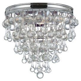 Chloe Flush Mount in Polished Chrome