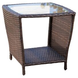 Worrilow Patio Side Table in Brown