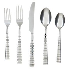 30-Piece Vertex Stainless Steel Flatware Set