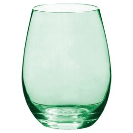 Idina Stemless Wine Glass in Green (Set of 4)