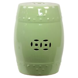 Mei Garden Stool in Lime Green