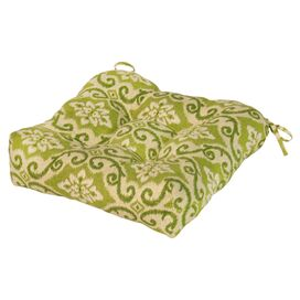 Kelly Indoor/Outdoor Chair Cushion in Green Ikat