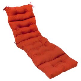 Kelly Indoor/Outdoor Chaise Cushion in Salsa