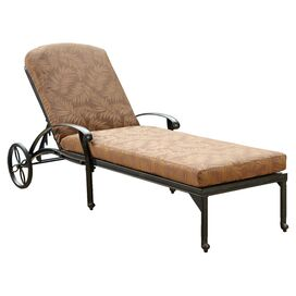 Floral Blossom Chaise with Cushion in Charcoal