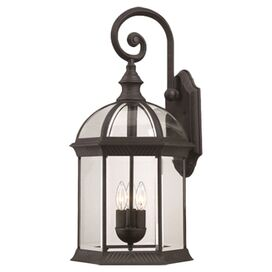 Rexler Outdoor Wall Lantern in Textured Black