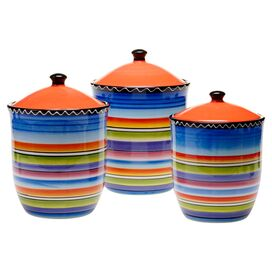 3-Piece Sunrise Canister Set