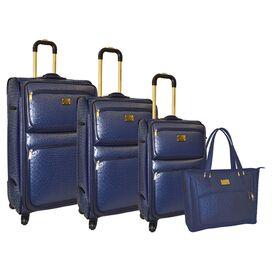 4-Piece Adrienne Luggage Set in Navy