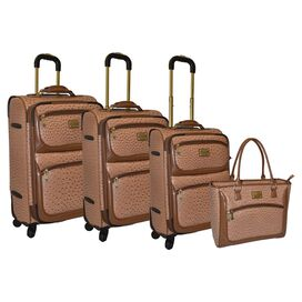 4-Piece Adrienne Luggage Set in Natural