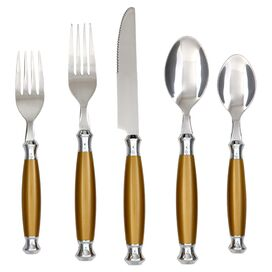 20-Piece Barcelona Flatware Set in Brown