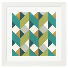 Chevron Illusion Framed Print