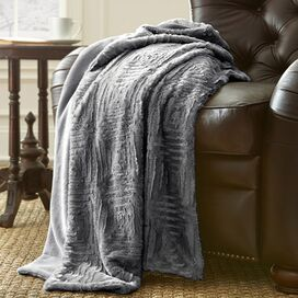 Leanne Throw in Dark Gray