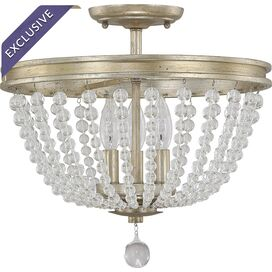 Lenox Park Semi-Flush Mount in Iced Gold
