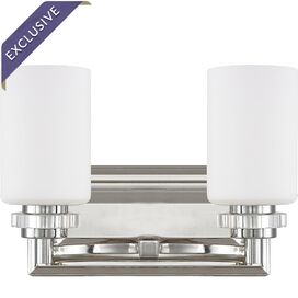 Lena 2-Bulb Vanity Light in Polished Nickel