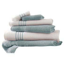 6-Piece Siara Egyptian Cotton Towel Set in Soft Blue