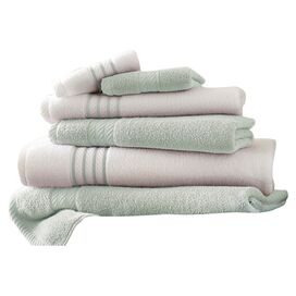 6-Piece Siara Egyptian Cotton Towel Set in Soft Jade