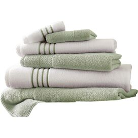 6-Piece Striped Egyptian Cotton Towel Set in Elm