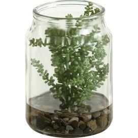 Faux Succulent in Jar