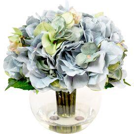 Faux Blue & Green Hydrangea