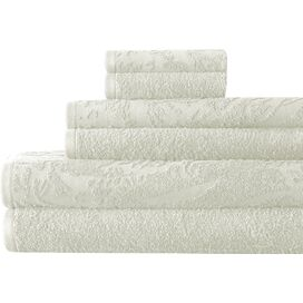 6-Piece Casablanca Towel Set in Ivory