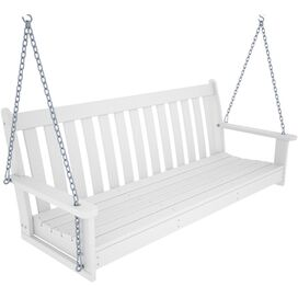 POLYWOOD Porch Swing in White