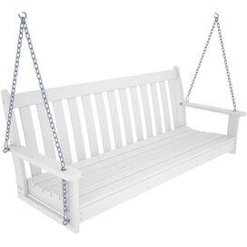 Vineyard Porch Swing in White