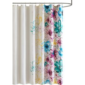Olivia Shower Curtain in Blue