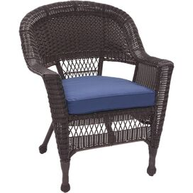 Emerson Patio Arm Chair in Blue (Set of 2)