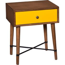Anderson End Table in Yellow
