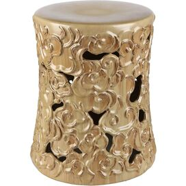 Teagan Garden Stool in Gold