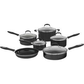 Cuisinart 11-Piece Cookware Set in Black