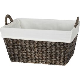 Rattan & Cotton Storage Basket