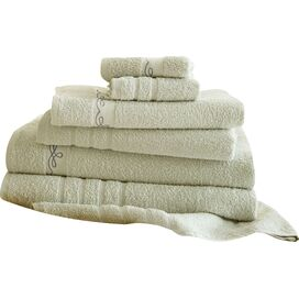 6-Piece Egyptian Cotton Towel Set in Ivory