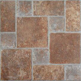 Jerome Vinyl Tile in Brick Pavers