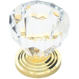 Lydia Cabinet Knob in Clear & Gold