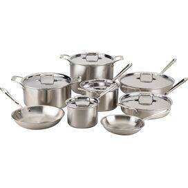 All-Clad 14-Piece Stainless Steel Cookware Set