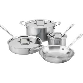 All-Clad 7-Piece Stainless Steel Cookware Set