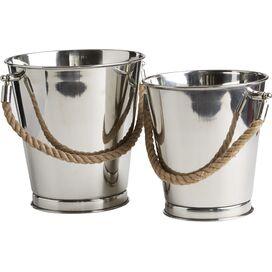 2-Piece Stainless Steel Ice Bucket Set