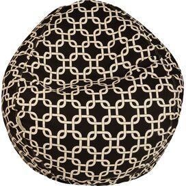 Madeline Indoor/Outdoor Beanbag in Black