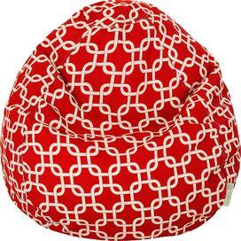 Madeline Indoor/Outdoor Beanbag in Red