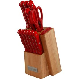 12-Piece Clio Knife Block Set in Red
