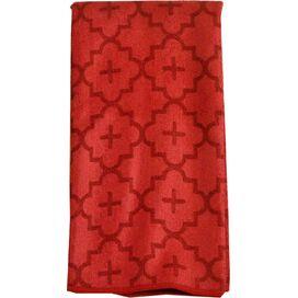 Quatrefoil Dishtowel in Red (Set of 2)