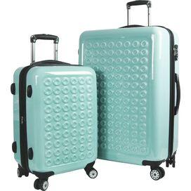 Jonit 2 Piece Luggage Set in Aqua
