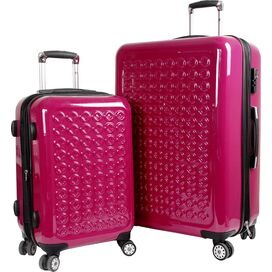 Jonit 2 Piece Luggage Set in Pink